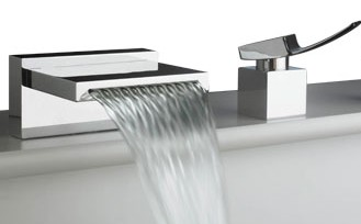 Waterfall Faucet. Bathroom Sink ...