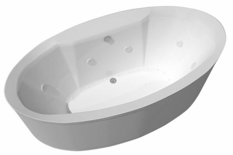 stand alone whirlpool tub. 8 Jet Freestanding Whirlpool Tub Atlantis Suisse  Soaking Air Bathtub