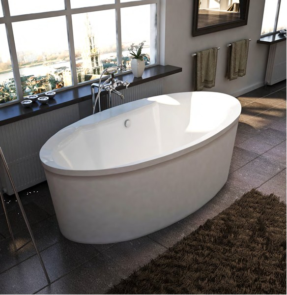 Atlantis Suisse Freestanding Whirlpool Soaking  Air Bathtub - Free standing jetted soaking tub