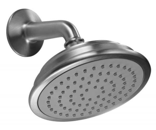 Traditional Round Showerhead with Arm