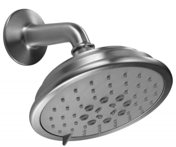 Traditional Round Multi-Function Showerhead with Arm