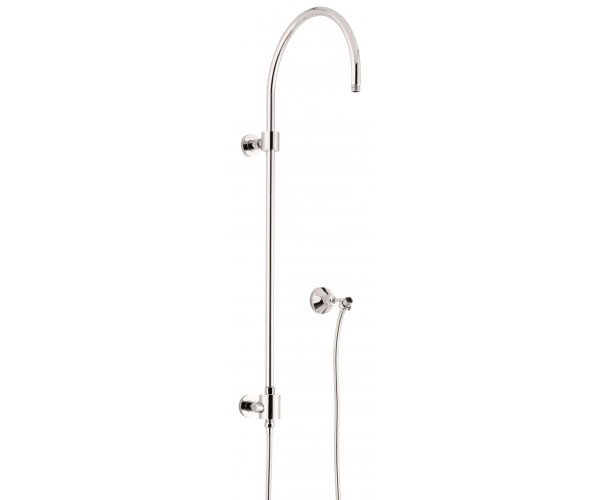 Exposed Shower Column with Hand Shower, Wall Mount Hand Shower Hook