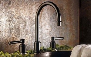 Miramar Bronze Widespread with Lever Handles