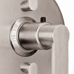Round Trim Plate, Arpeggio Thermostatic Handle, 2 Volume Controls