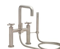 Deck-mount Tub Filler Shown with Cross Handles