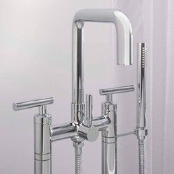 Bolsa Free Standing Faucet with Squared Spout, 2 Legs