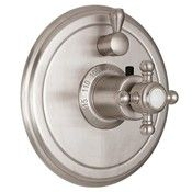 Traditional Cross Handle, Round Wall Plate, Single Small Control