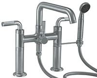 TDeck Mount Tub Faucet with Handshower, 2 Column