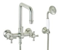 Squared Spout Wall-mount Tub Filler with 60 Series Lever Handles