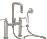Squared Spout Deck-mount Tub Filler with 48 Series Lever Handles