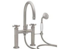 Deck-mount Tub Filler with 48 Series Cross Handles