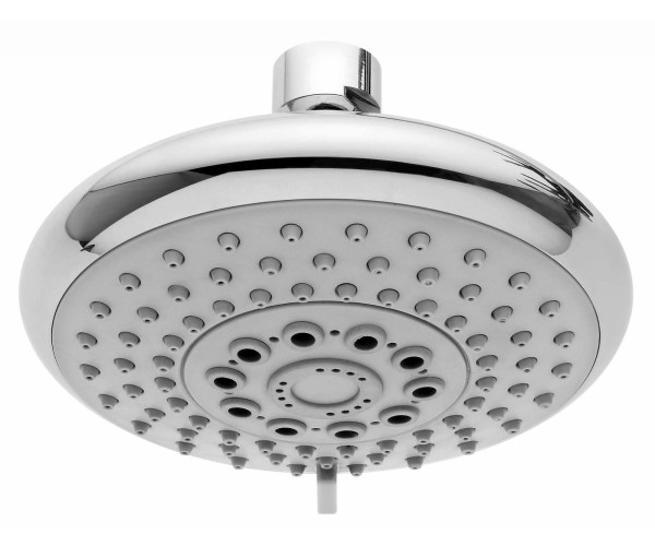 Round Shower Head with Rubber Face