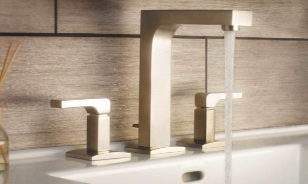 Modern Square Style Widespread Sink Faucet