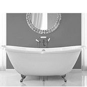 Oval Slipper Soaking Tub, Floor Mount