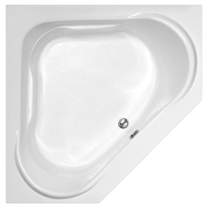 Corner Tub with Raised Backrests, Triangle Bathing area, 2 Sets of Armrests