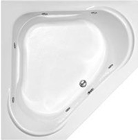 Corner Tub shown as a 6 Jet Whirlpool