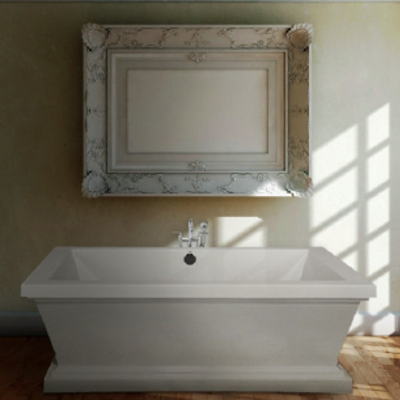 DaVinci Installed with Freestanding Tub Fauceted Centered Behind