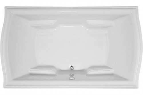 Rectangle, Sculpted Rim, Center Drain, Soaking Tub