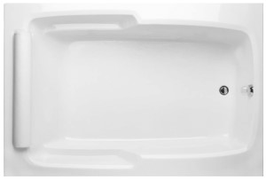 Rectangle, End Drain, Roll Pillow, Soaking Tub
