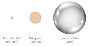 Chart Showing Size of Micro Bubble