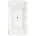 Rectangle Tub with Rounded Corners, Center Drain