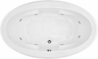 Oval Tub, Center Drain, Armrests, 8 Jet Whirlpool
