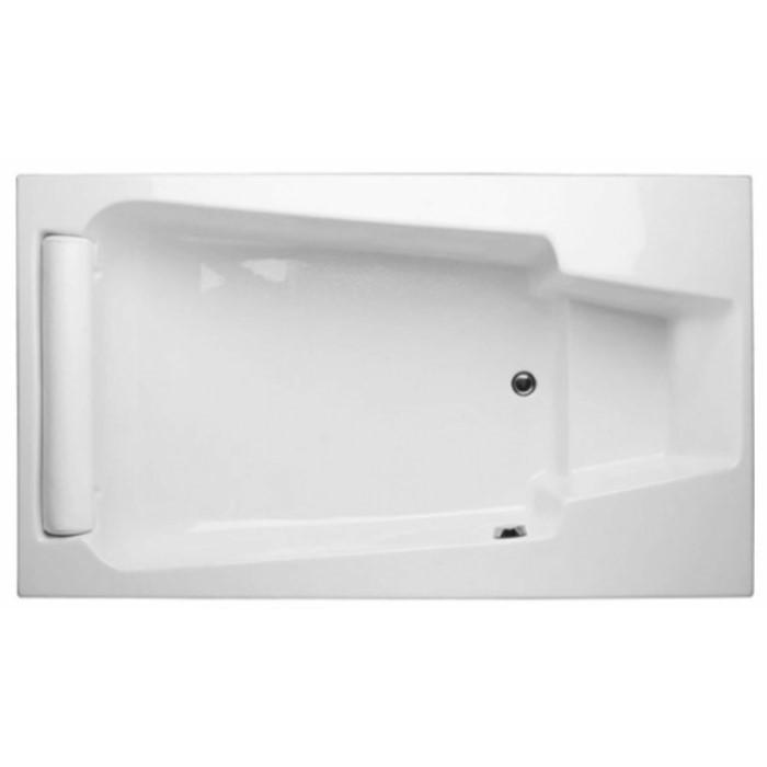 Rectangle Tub, End Drain, Footrest, Soaking Bathtub