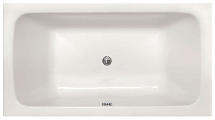 Rectangle Tub, Rounded Interior Corners, Center Drain, Soaking Bath