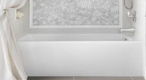 Sydney Bathtub Installed with Tile Shower