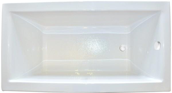 Zen Rectangle End Drain Soaking Tub