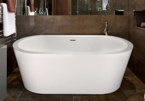 Oval Freestanding Tub with Wide Rim, Slotted Overlow