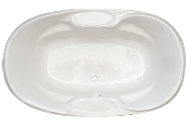 Large Oval Center Drain Tub