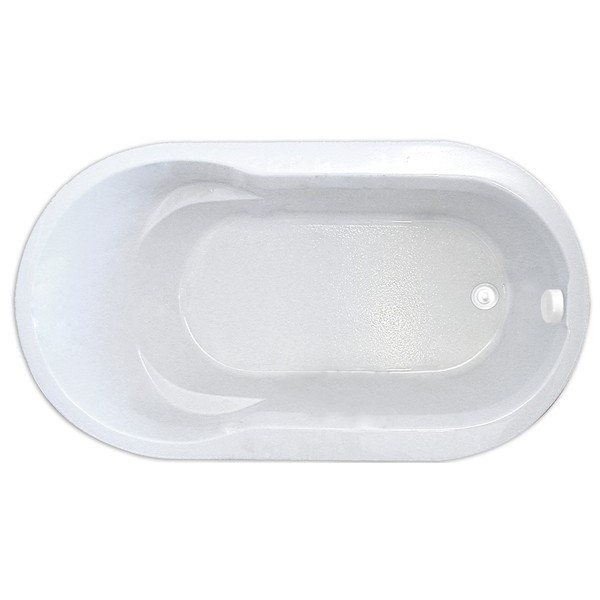 Oval, End Drain Tub Only
