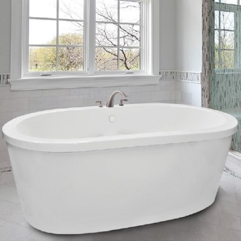 Oval Freestanding Tub with Flat Rim