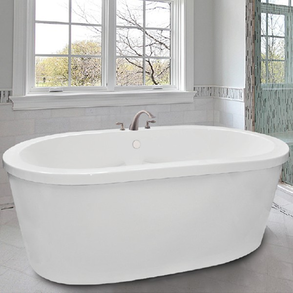 freestanding tub with jets. Oval Freestanding Tub with Flat Rim Rosabella  Soaking Whirlpool or Air Jets Hydro Massage