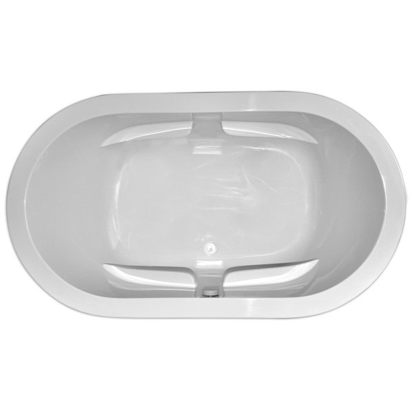 Oval Soaking Tub with Armrests