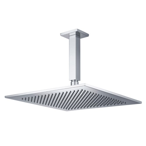 Square Shower Head with Square Ceiling Arm