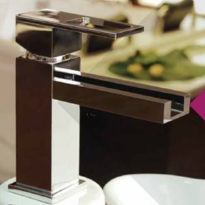 Single Hole Sink Faucet with Open Waterfall Spout