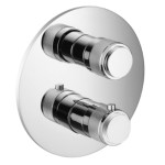 Round Thermostatic Control with 2 Round Knobs