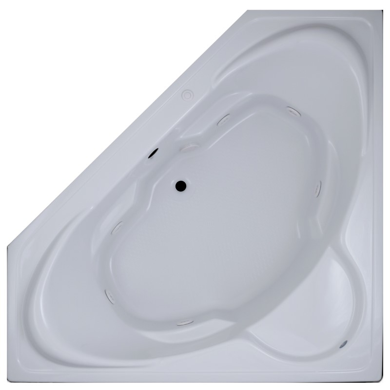 Aruba Corner Bathtub with Seat, Armrests for 2