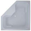 Atlantis Boxy Corner Bathtub with Armrests for 2