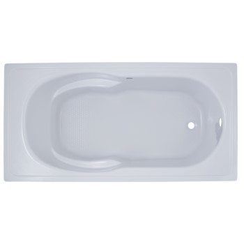 Rectangle Bath with Oval Bathing Area, Armrests