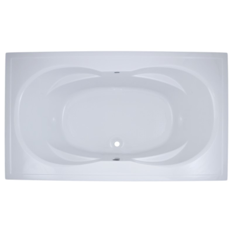Catalina Rectangle Bathtub with Oval Bathing Area, Center Drain, Armrests