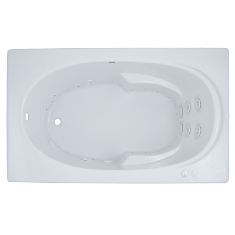 Rectangle Whirlpool & Air with Neck Rest, Armrests, End Drain