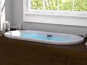 Darby Oval Bathtub with Wide Rim, Center Drain