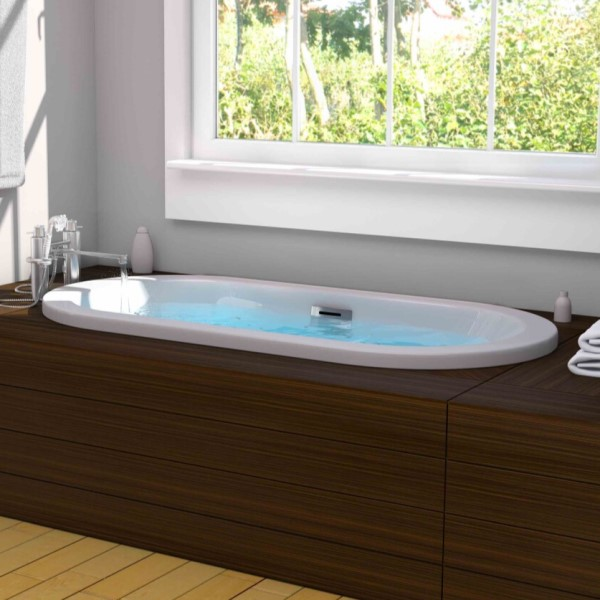 Delicieux Darby Oval Bathtub With Wide Rim, Center Drain