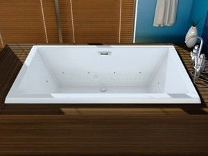 Knox Rectangle Bathtub with Wide Rim, Center Drain