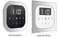 Square or Round Bezel to Flush Mount the Control