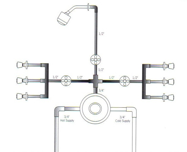 Set Of 3 Body Sprays Technical Drawing