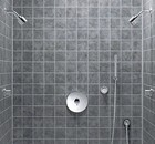 Jado Borma Thermostatic Shower with 2 Shower Heads and Hand Shower on Wall Hook